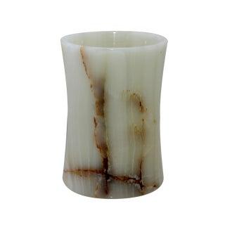 White Marble Waste Bin