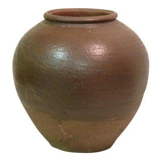 Vintage Japanese Stoneware Vase For Sale