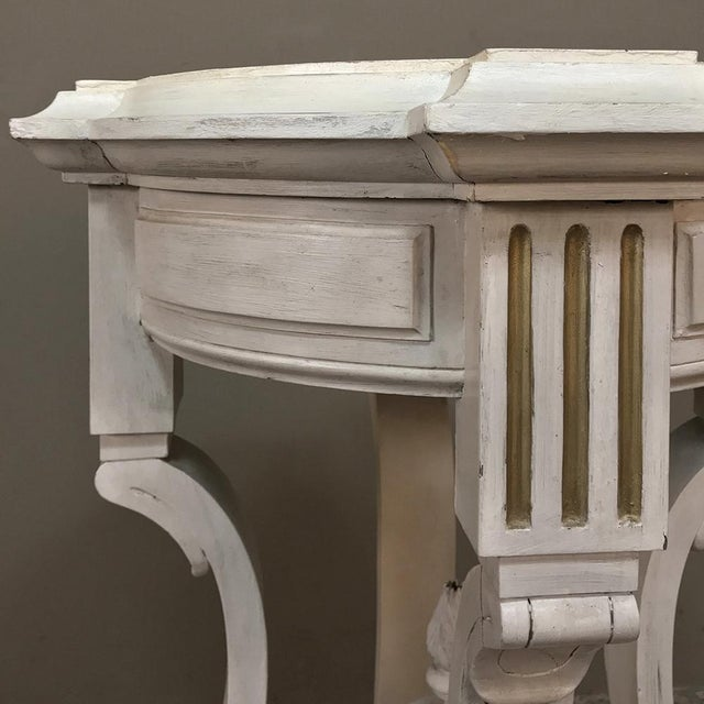 19th Century French Henri II Painted Lamp Table ~ Pedestal For Sale - Image 4 of 11