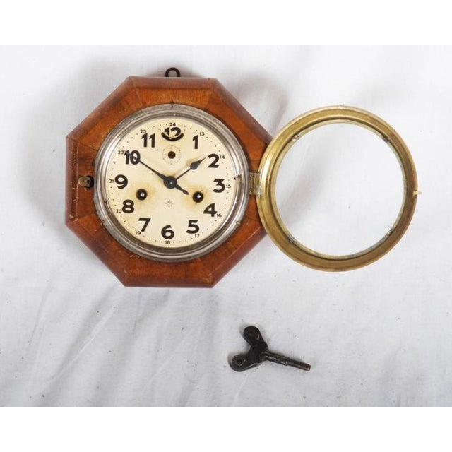 Art Deco Art Deco Wall Clock by Junghans For Sale - Image 3 of 6
