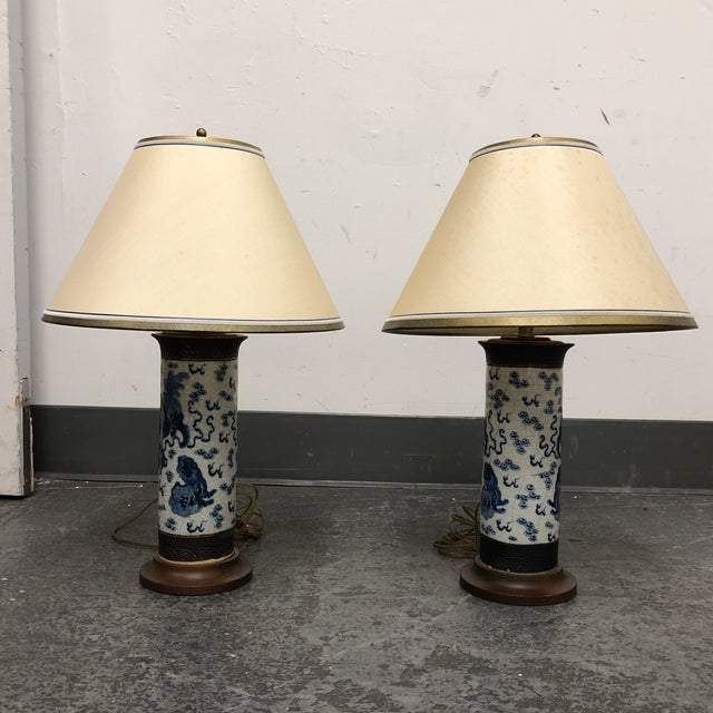 Pair of Antique Ming Dynasty Vase Table Lamps For Sale - Image 13 of 13