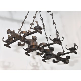 Antique French, Hand Forged, Six Light Iron Chandelier Preview