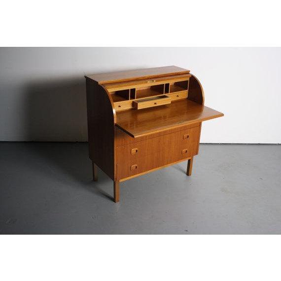 Danish Modern Teak Secretary Desk In Style of Egon Ostergaard - Image 2 of 5