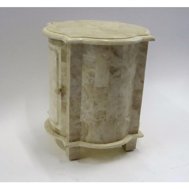 Stone Tesselated Fossil Stone Nightstand End Table from Marquis Collection of Beverly Hills For Sale - Image 7 of 11