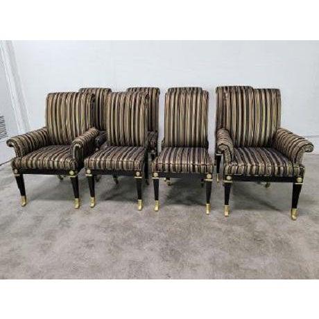 Mastercraft Mid Century Hollywood Regency Mastercraft Dining Chairs - Set of 8 For Sale - Image 4 of 13