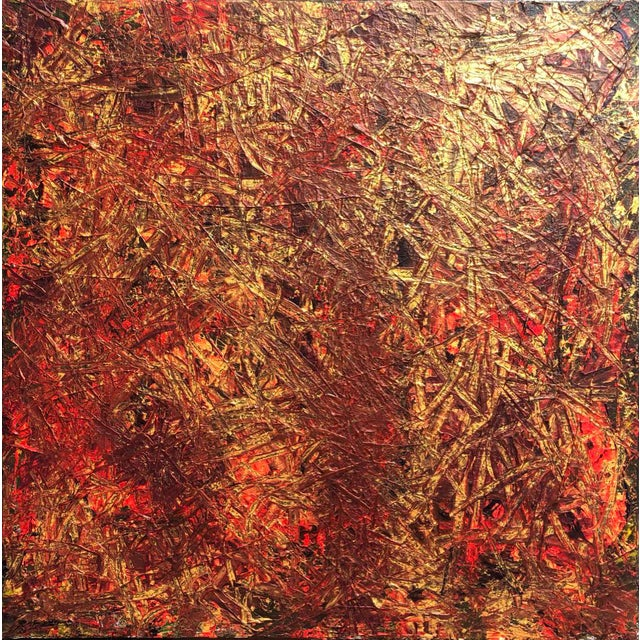 "Acrylic Painting by Artist Troy Smith - 36"" X 36"" - Contemporary Art - Abstraction For Sale - Image 13 of 13"
