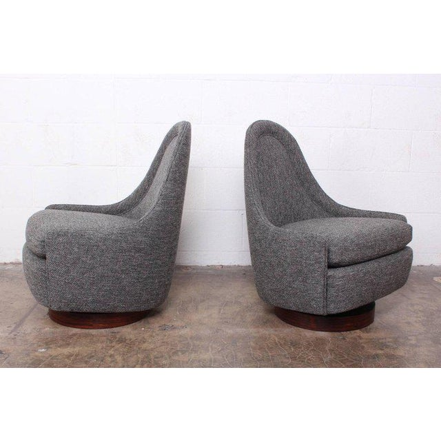 Pair of Petite Rocking Swivel Chairs by Milo Baughman For Sale - Image 13 of 13