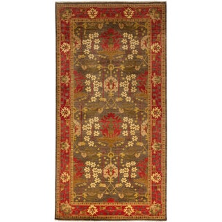 """Arts & Crafts Hand Knotted Area Rug - 6'1"""" X 11'8"""" For Sale"""