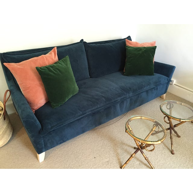 7 Top Tips For Throwing A Grand Party In A Small Home: West Elm Bliss Sleeper Sofa In Velvet