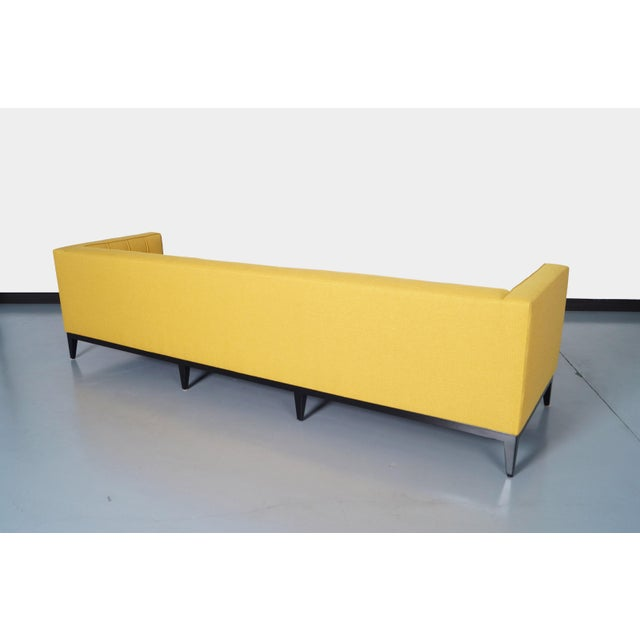 "Yellow Elegant Tufted ""Vista"" Sofa by Cruz Design Studio For Sale - Image 8 of 10"