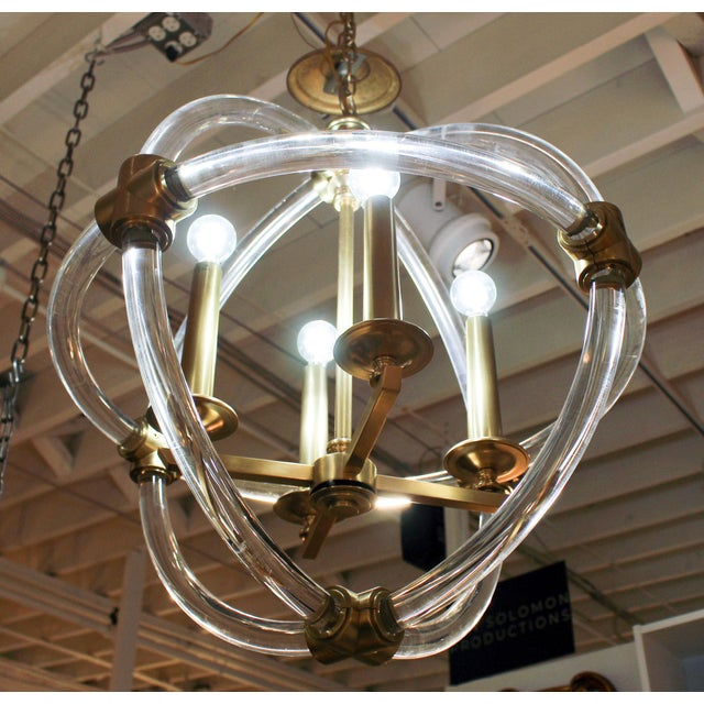 Transitional Globe Pedant Light Fixture For Sale - Image 3 of 8