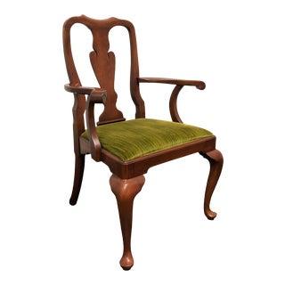 Henkel Harris Cherry Queen Anne Dining Captain's Armchair 110a 24 For Sale