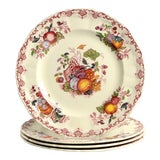 Image of 1960s Mason's Fruit Basket Red Multicolor Luncheon Plates - Set of 4 For Sale
