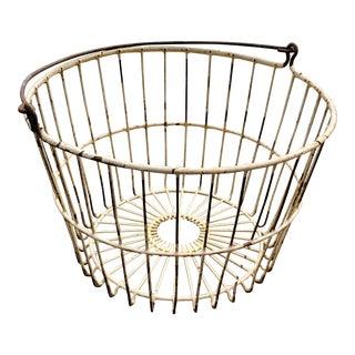 Farmhouse Wire Egg Basket, Antique For Sale
