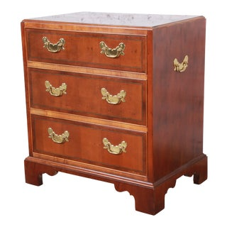 Baker Furniture Chippendale Fruitwood Chest of Drawers or Commode For Sale