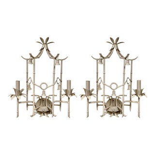 Pair of Chinese Chippendale Style Sconces-2 Pair Available For Sale