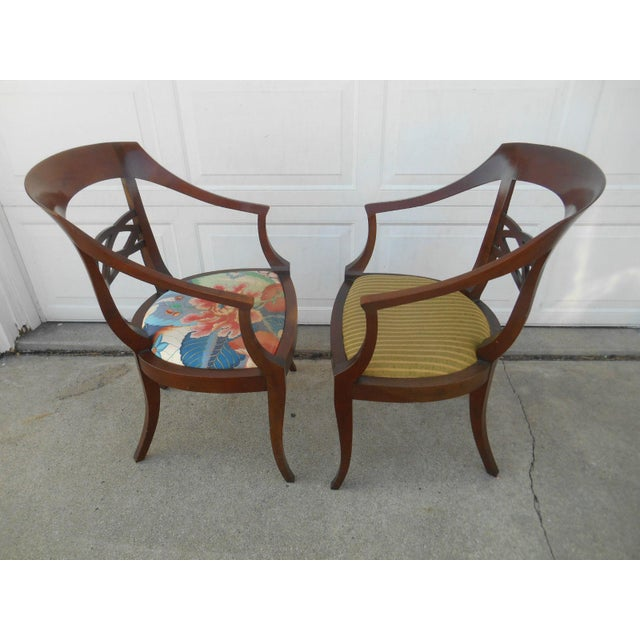 Vintage Baker Furniture Biedermeier Style Dining Chairs - A Pair - Image 5 of 7