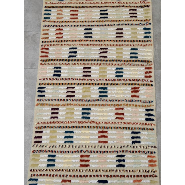 Hand Knotted Oushak Runner Rug - 2′8″ X 9′10″ - Image 7 of 10