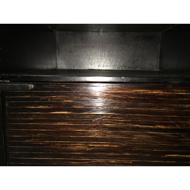 20th Pair of Ebonized Macassar NightStands or Side Tables With One Door For Sale - Image 9 of 12