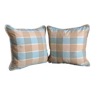 Buffalo Plaid Throw Pillows - a Pair For Sale