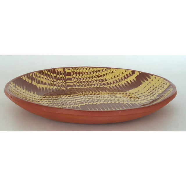 Marbled Redware Pottery Catchall Dish - Image 3 of 8