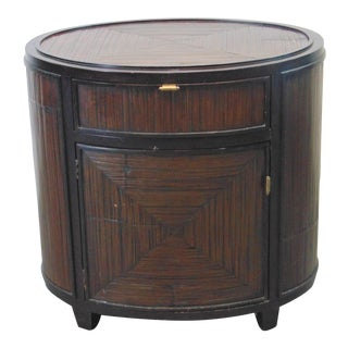 Late 20th Century McGuire Bamboo Nightstand For Sale