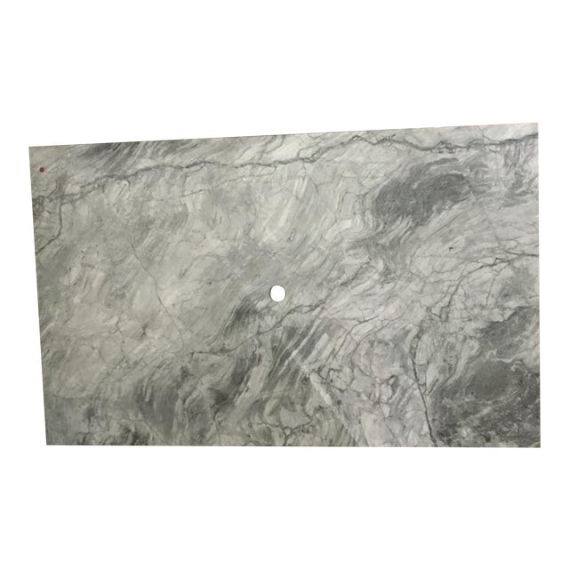 Custom Carrera Marble Island or Counter Top For Sale