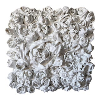 "Chloe Hedden ""White Rosettes 4"" Sculpture For Sale"