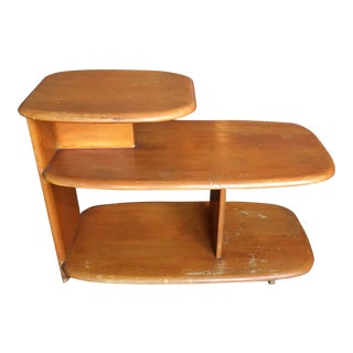 Heywood Wakefield Wheat 3 Tier Side Table For Sale