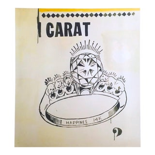 "Andy Warhol Foundation Lithograph Print Pop Art Poster "" 1 Carat Happiness "" 1961 For Sale"