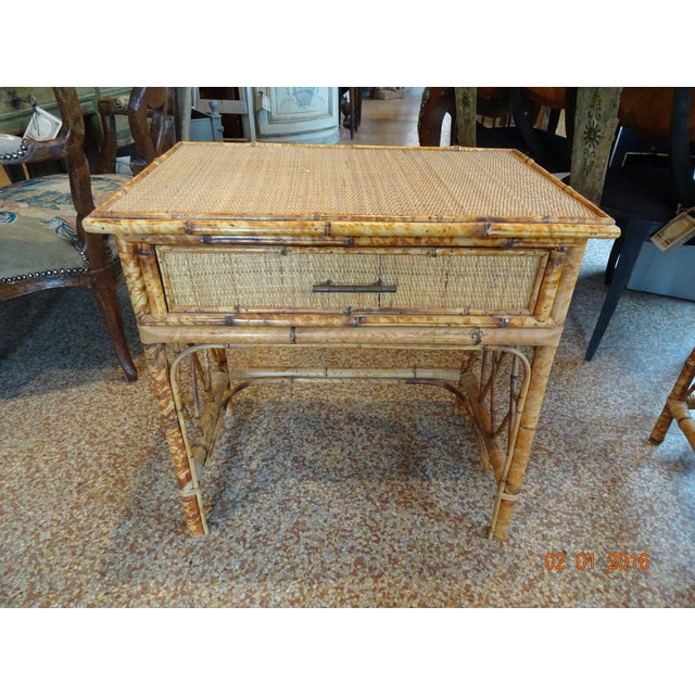 Pair of Vintage French Bamboo Tables For Sale - Image 10 of 10