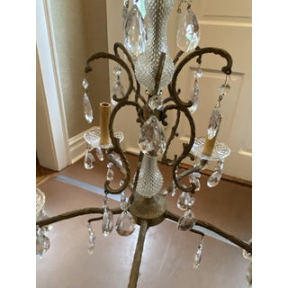 Vintage French Crystal and Bronze Chandelier From Marche Aux Puces Preview