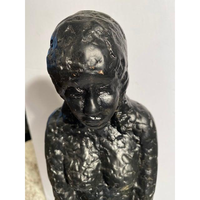 Plaster 1960's Mid-Century Nude Figure Sculpture For Sale - Image 7 of 9
