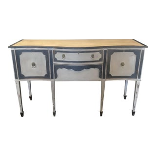 Painted Louis XVI Style Antique Sideboard Buffet Credenza For Sale