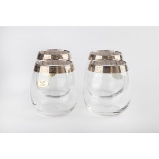 Silver Rimmed Greek Key Italian Cocktail Glasses Preview