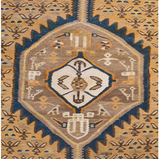 """Early 20th Century Senneh Kilim Runner - 55"""" x 144"""" For Sale - Image 4 of 5"""