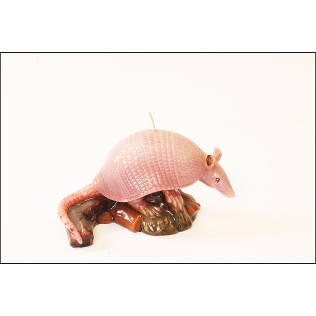 Vintage Pink Armadillo Wax Candle - Image 2 of 11