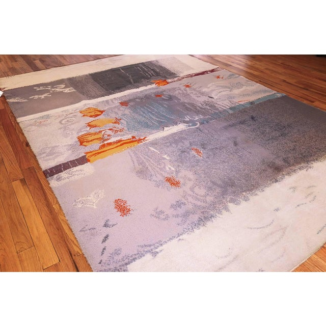 Abstract Vintage Danish Ege Art Rug Based on Arne L Hansen Painting - 8′2″ × 11′ For Sale - Image 3 of 6