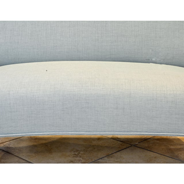 Mint Vintage Ico Parisi Style Seafoam Color Loveseat Settee With Great Curved Lines For Sale - Image 8 of 11