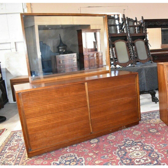 1952 Heritage Henredon Mid Century Cherry Dresser and Mirror For Sale - Image 11 of 11