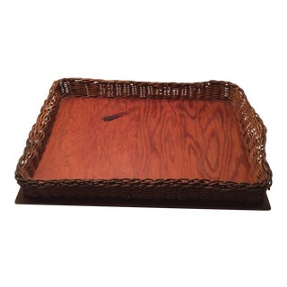 Ahwahnee Hotel Wicker Serving Tray - 1930's For Sale