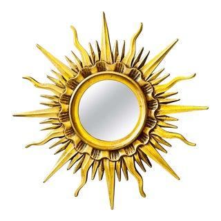 Gilt Sunburst Mirror by Mario Buatta For Sale