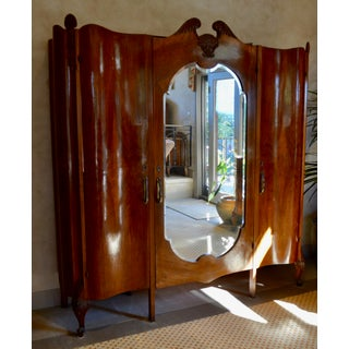 1920s Burled Walnut and Mirror Art Deco Armoire Preview
