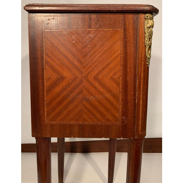 Antique French Bedside Cabinet For Sale In Boston - Image 6 of 9