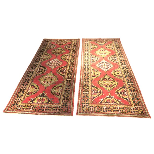 1930s Turkish Oushak Runners - A Pair - Image 1 of 10