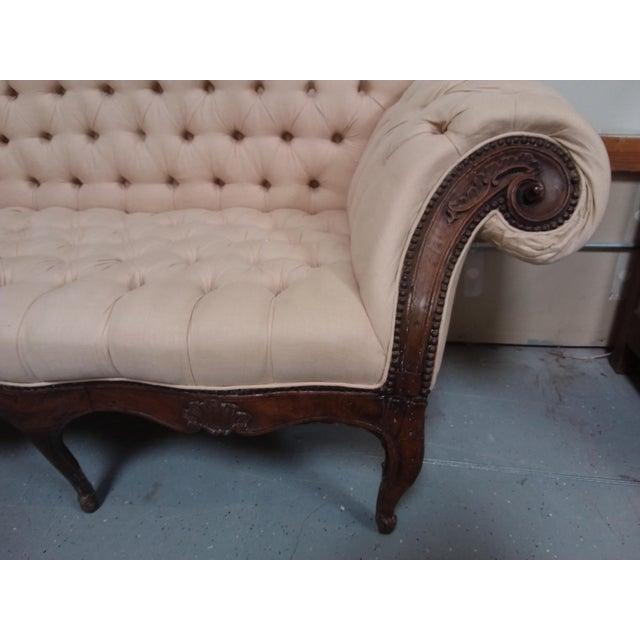 Mid 18th Century 18th Century Walnut Piedmontese Sofa For Sale - Image 5 of 11