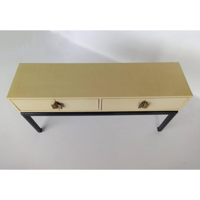 Modern Lacquered Grasscloth Console or Buffet For Sale - Image 4 of 8