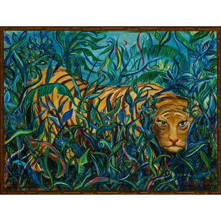 """Jungle Tiger"" Oil Painting For Sale"