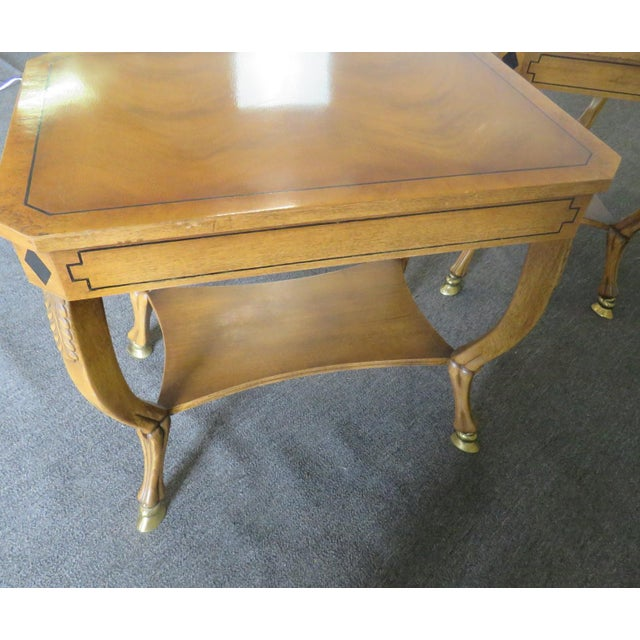 Pair of Regency Style End Tables For Sale - Image 11 of 13