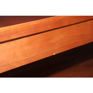 1990s Traditional Ethan Allen Medallion Collection Cherry Wood Inlay Coffee Table Preview